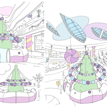 Christmas Grotto for Waterside Shopping Centre, Lincoln. Client: 'Fizzco projects'